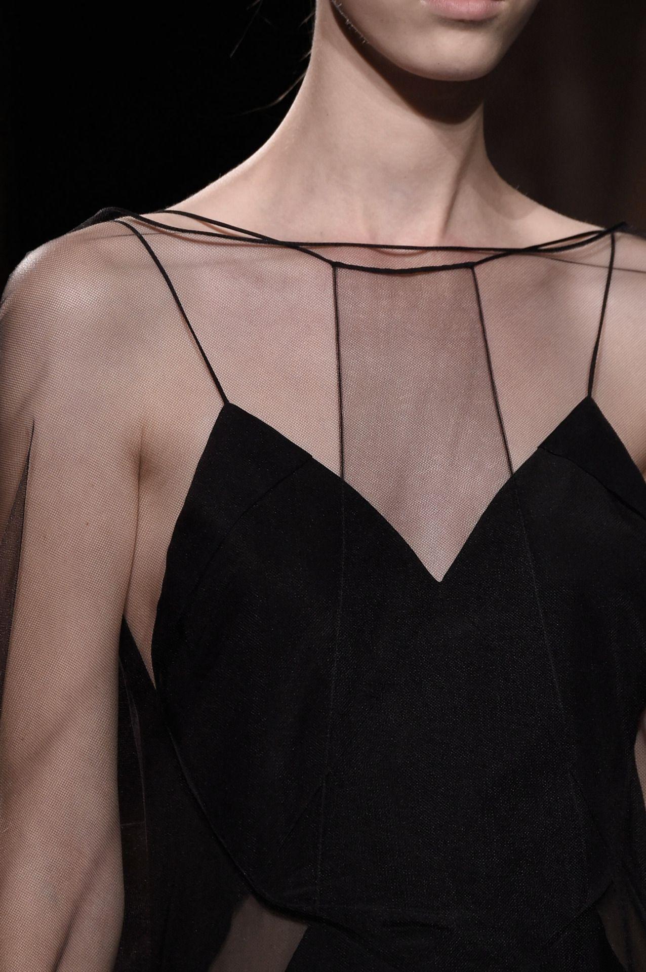 Sheer Elegance - black dress; fashion details // Vionnet Spring 2016 | @andwhatelse