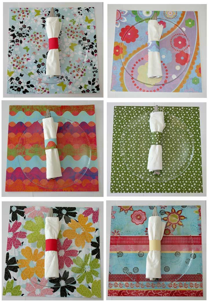 Diy Placemats Using Paper Diy Placemats Placemats Diy Place Settings