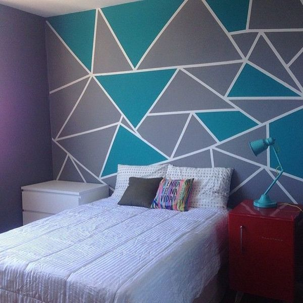 How To Paint Geometric Shapes On Walls Ideacoration Co Diy Living Room Paint Living Room Paint Bedroom Wall Designs