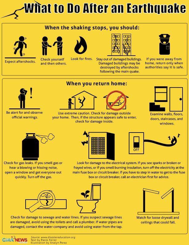 'Drop, cover, hold on' and other earthquake safety tips