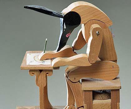 Automaton Writing A Letter