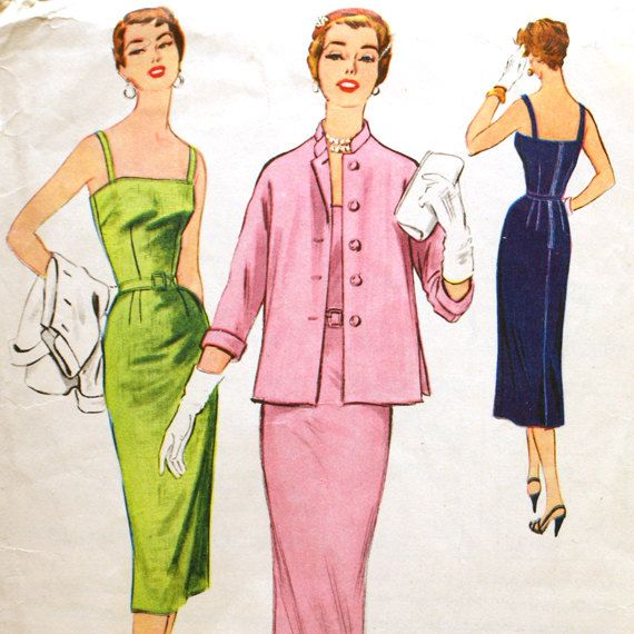 1950s Fitted Wiggle Dress Pattern - McCall\'s 3219 Bust 30