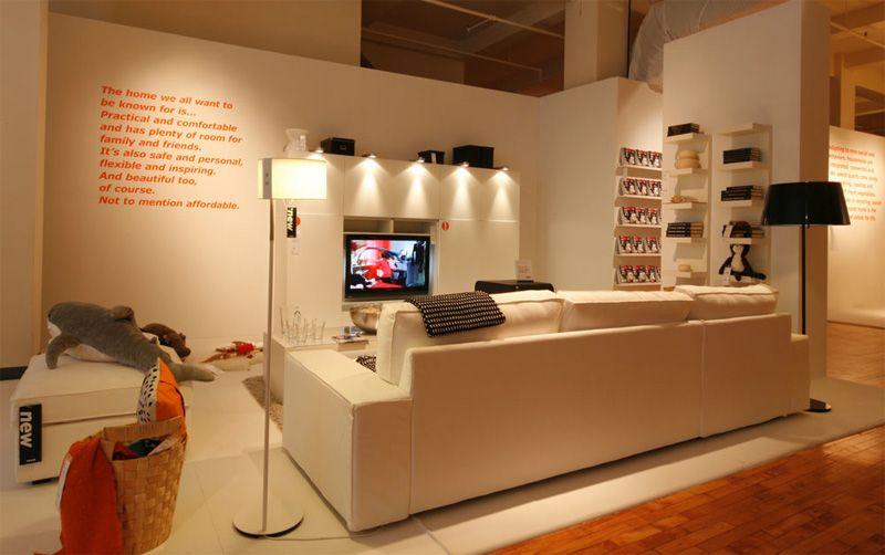 Ikea Showroom   Graphics On Temporary Walls Are A Good Idea