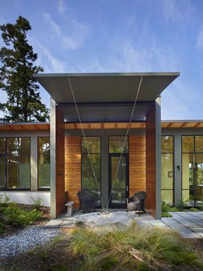 In A House Of Glass Couple Gets Cozy With Nature Canopy Outdoor Canopy Design Canopy Architecture