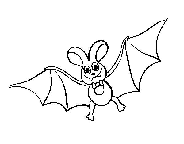 Dibujo de murci lago infantil para colorear dibujos de - Dibujos de halloween ...