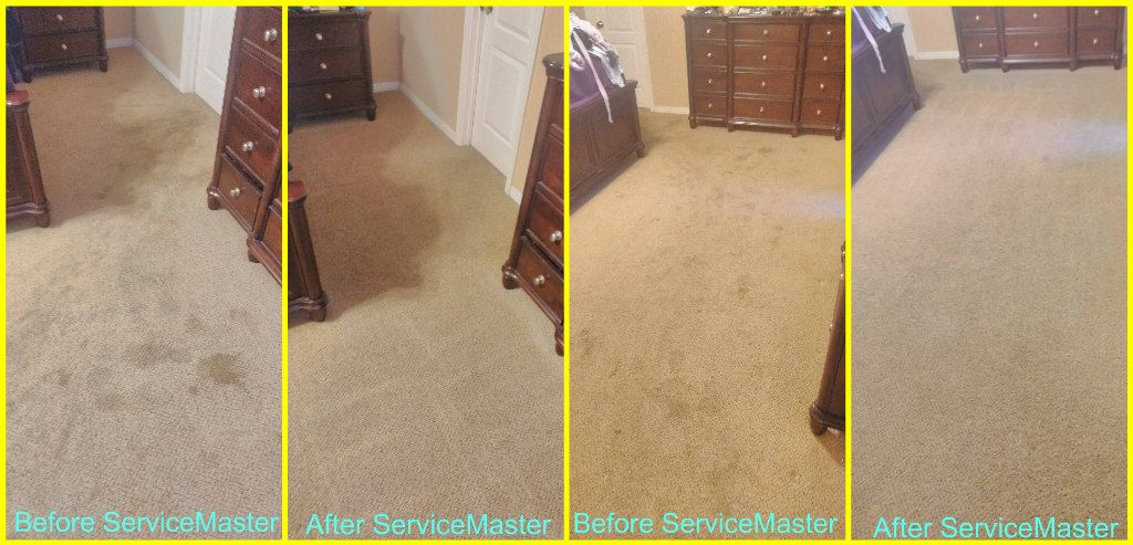 Servicemaster Quality Services Before And After Our Carpet Cleaning At An Apartment In Houma La