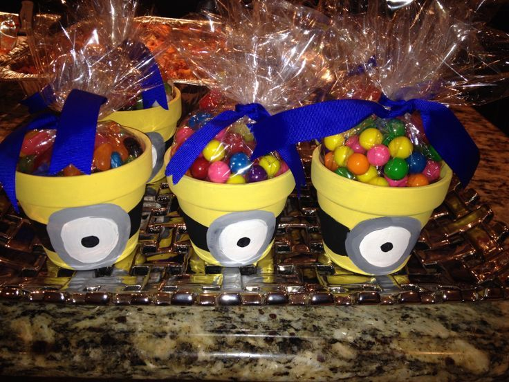 Minion Party Favors, Fill With Grass Seeds For Hair?