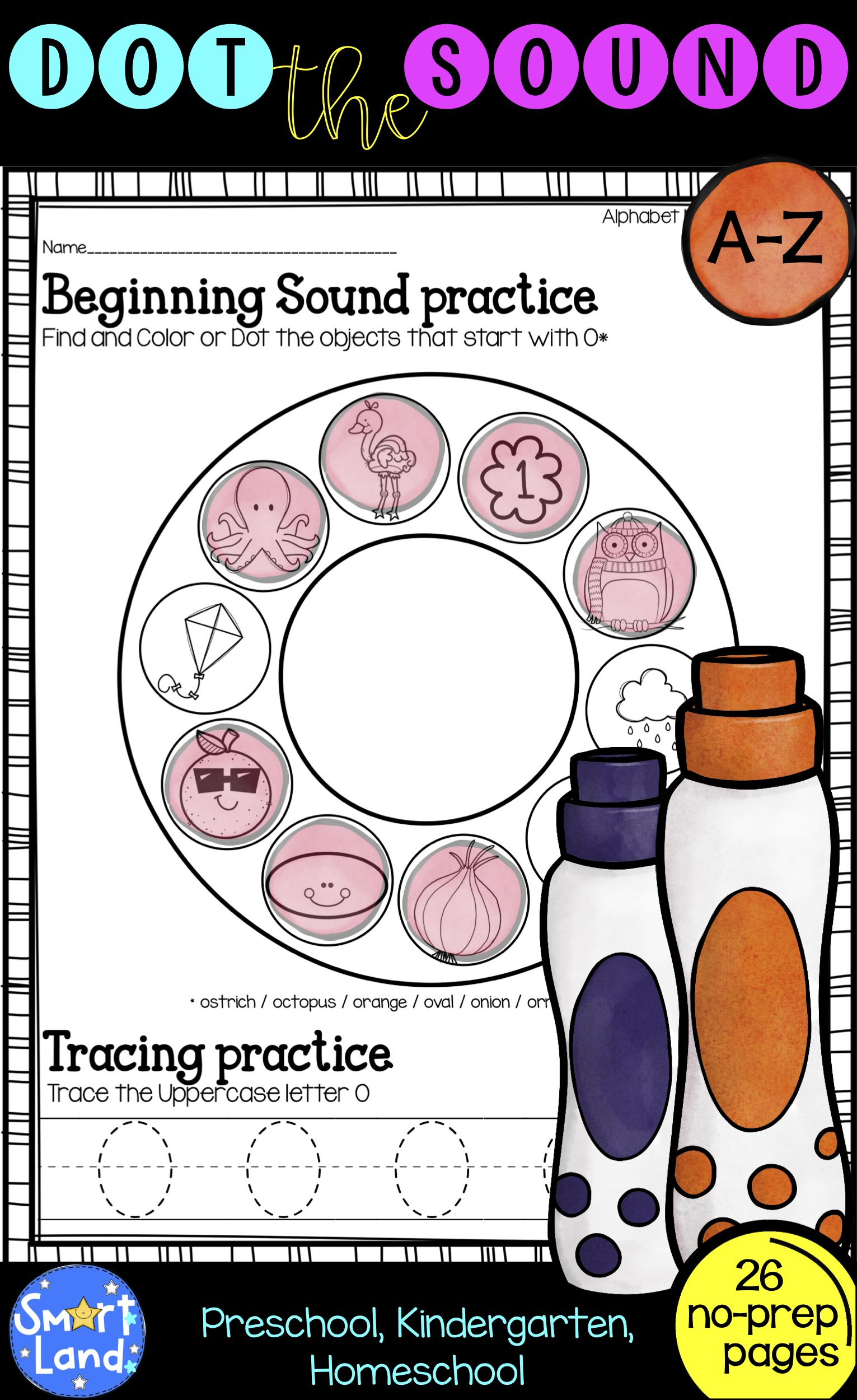 Alphabet Practice Dot The Sound And Letter Tracing