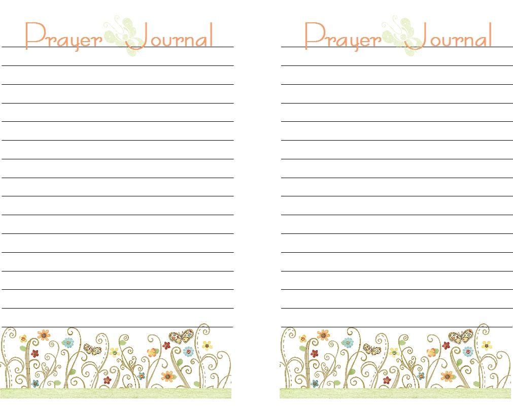 prayer journal printables free printable prayer journal pages