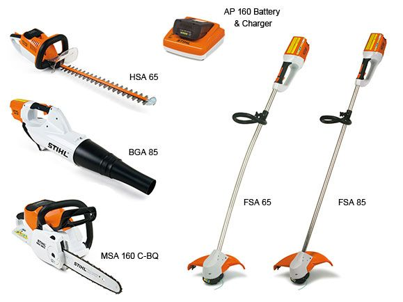 Stihl Commercial Lithium Ion Series Weedeater Hedge Trimmer And Chainsaw Please Battery Charger Sold Seperately