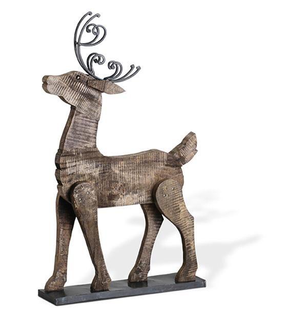 Barnwood Reindeer - Holiday HomeDecorators Christmas