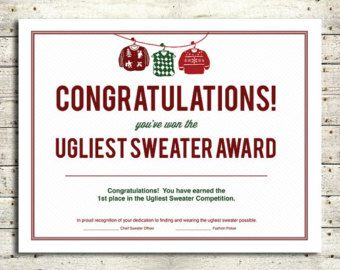 Free Ugly Sweater Certificate Template Yahoo Image Search Results