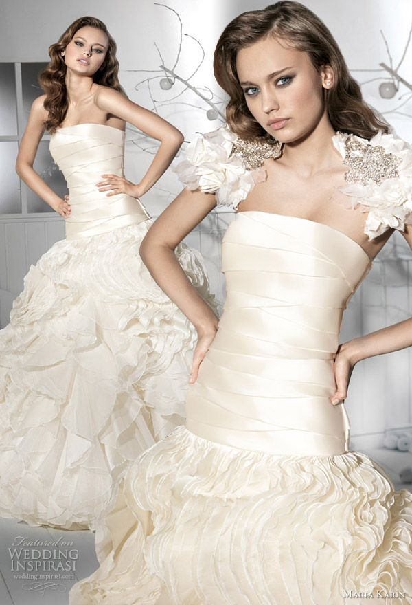 http://weddinginspirasi.com/2012/02/16/maria-karin-wedding-dresses-2012/2/ maria karin 2012 #wedding dress #weddings #weddingdress #bridal #ballgown