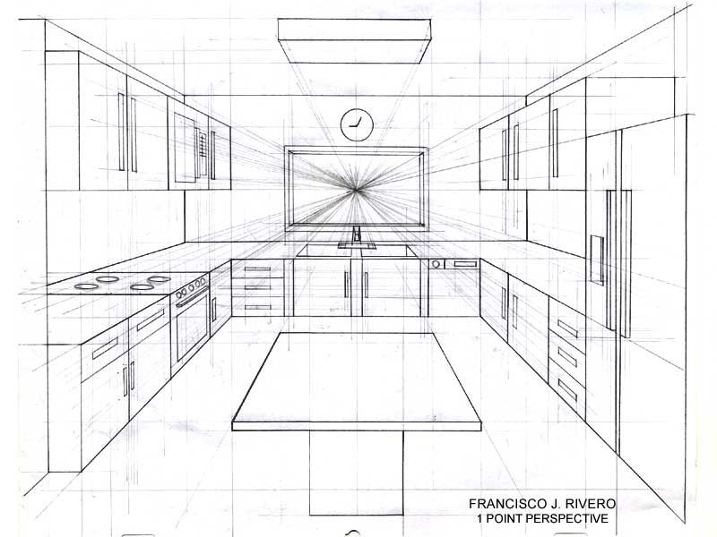 Room perspective grid google search art pinterest - Perspective cuisine dessin ...