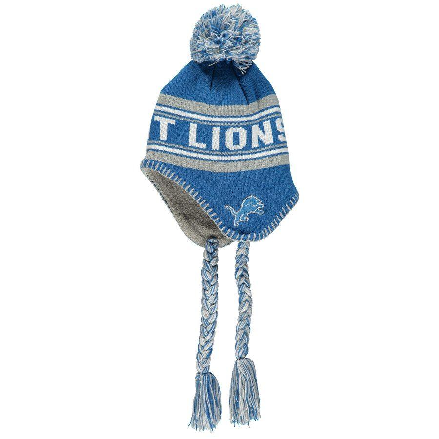 brand new 729c1 7a3e9 NFL Detroit Lions Adult NFL Abenaki Ots Sherpa Knit Cap with Pom,  28.00    Detroit Lions Caps   Hats   Nfl detroit lions, Detroit Lions, Cap