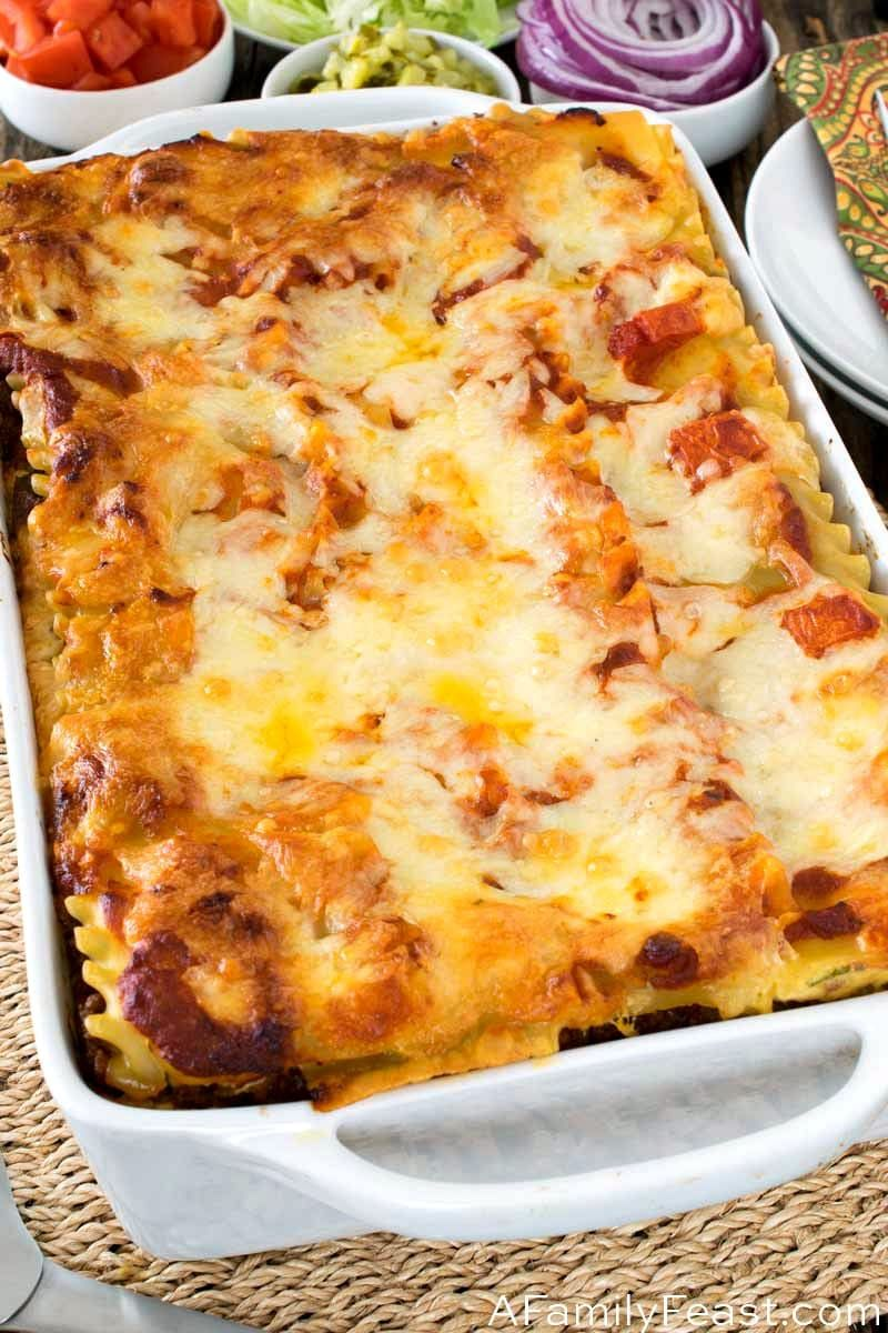 Bacon Cheeseburger Lasagna - A Family Feast
