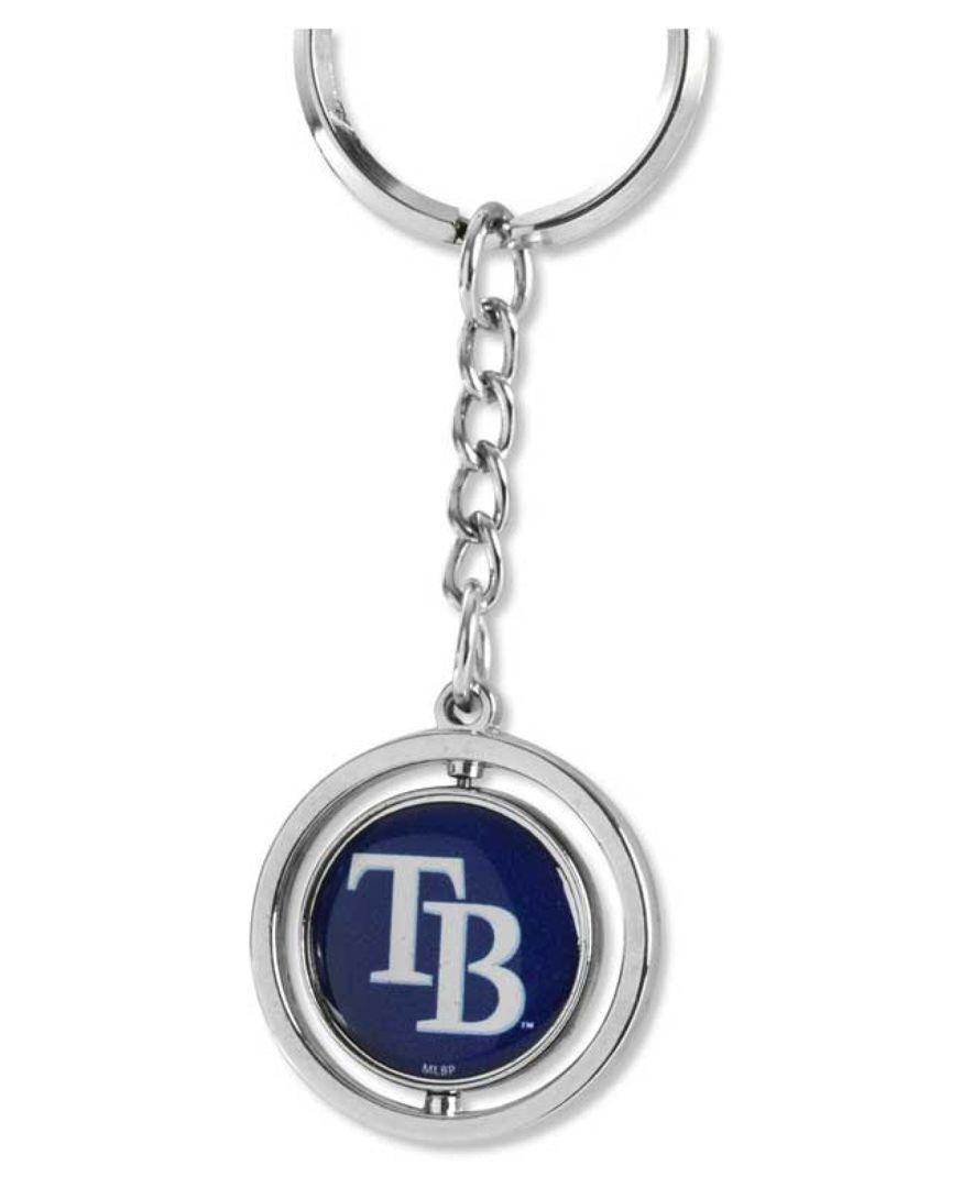 Aminco Tampa Bay Rays Spinning Baseball Ring Keychain Baseball Ring Tampa Bay Rays Keychain
