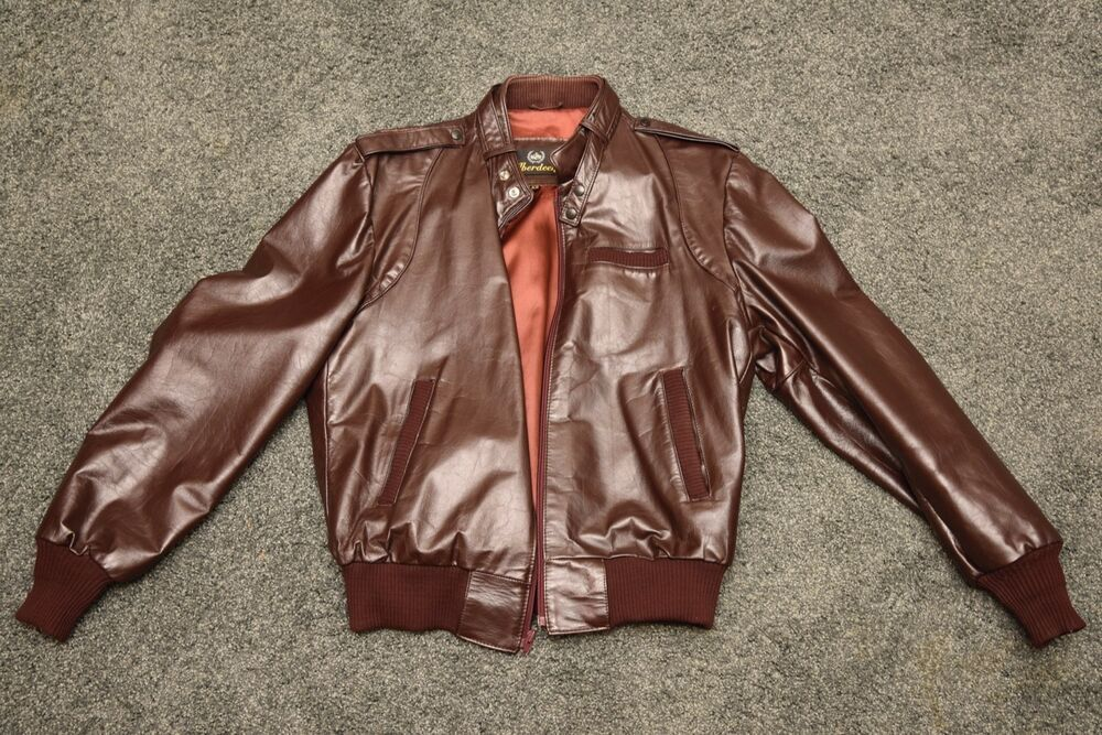 Mens Aberdeen brown leather Jacket WPL 34605 #fashion