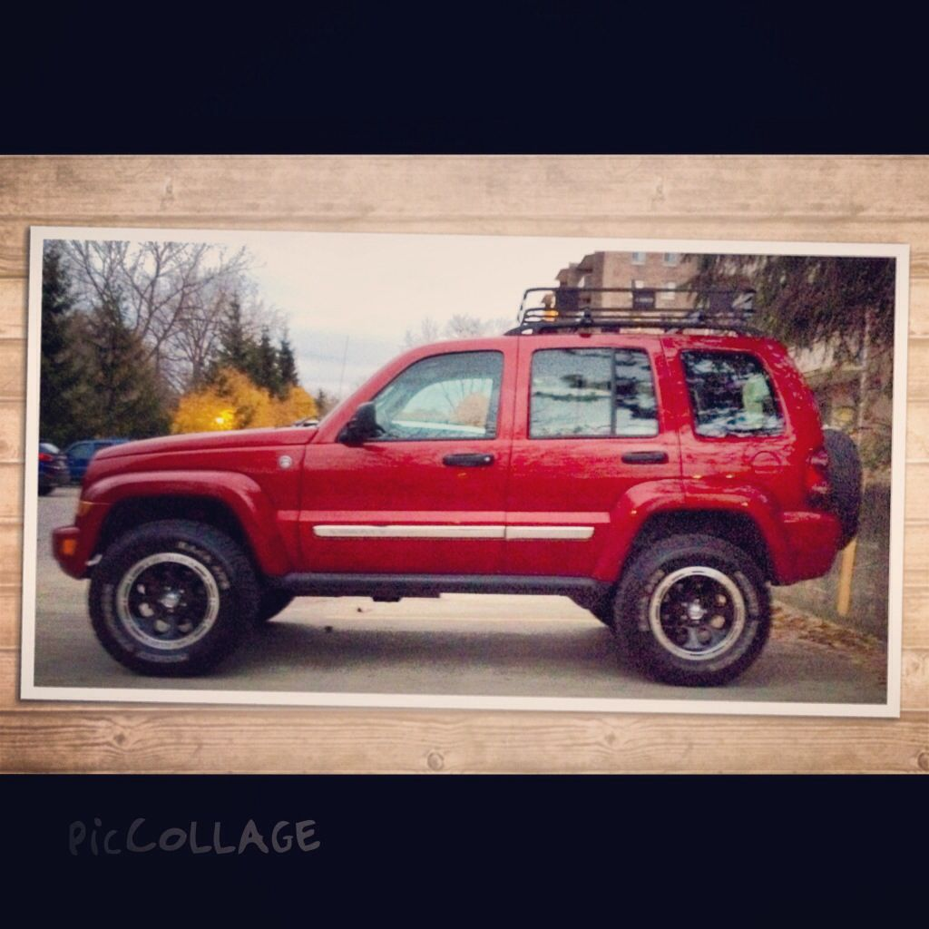 My Newly Lifted 07 Jeep Liberty Kj Skyjacker Lift Kit Mickey Thompsons Ion Alloy Style 174s And A Surco Rack More To Jeep Liberty Jeep Liberty Lifted Jeep