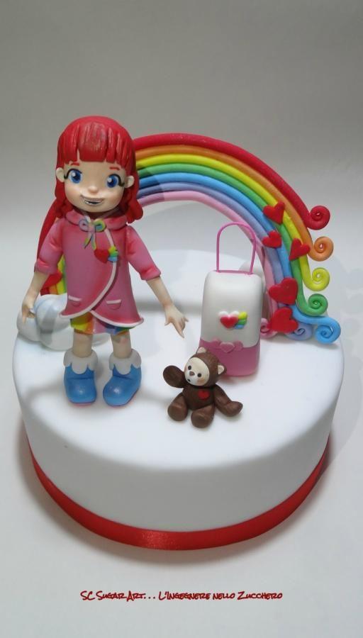 Rainbow Ruby cake topper - Cake by Sc Sugar Art L ...