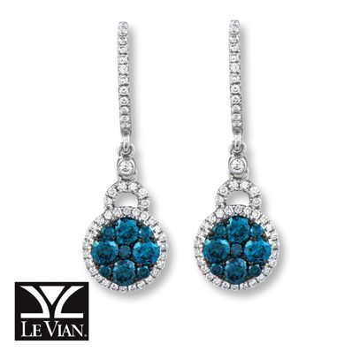 Wear the trend now Le Vian Blueberry Diamonds and Vanilla Diamonds