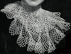 Lace Frill Jabot ~ Free Vintage Crochet