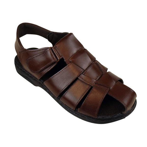 9d8b6dda6e1411 Mens Leather Smart Slip On Velcro Sandal Beach Mules Slides Sandals Summer  Shoes