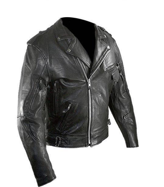 Xelement Men S Black Pistol Pete Buffalo Leather Armored Classic