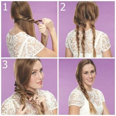 Easy Braid Hairstyles Simple 4 Chic Braided Hairstyles Made Easyif You Shied Away From Braids