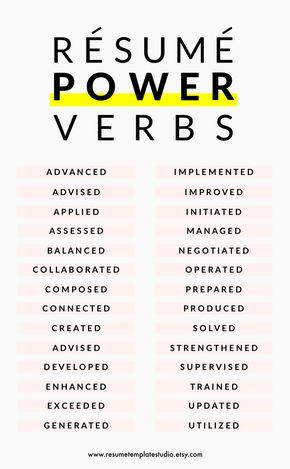 Resume power verbs and Resume tips to boost your Resume Risen