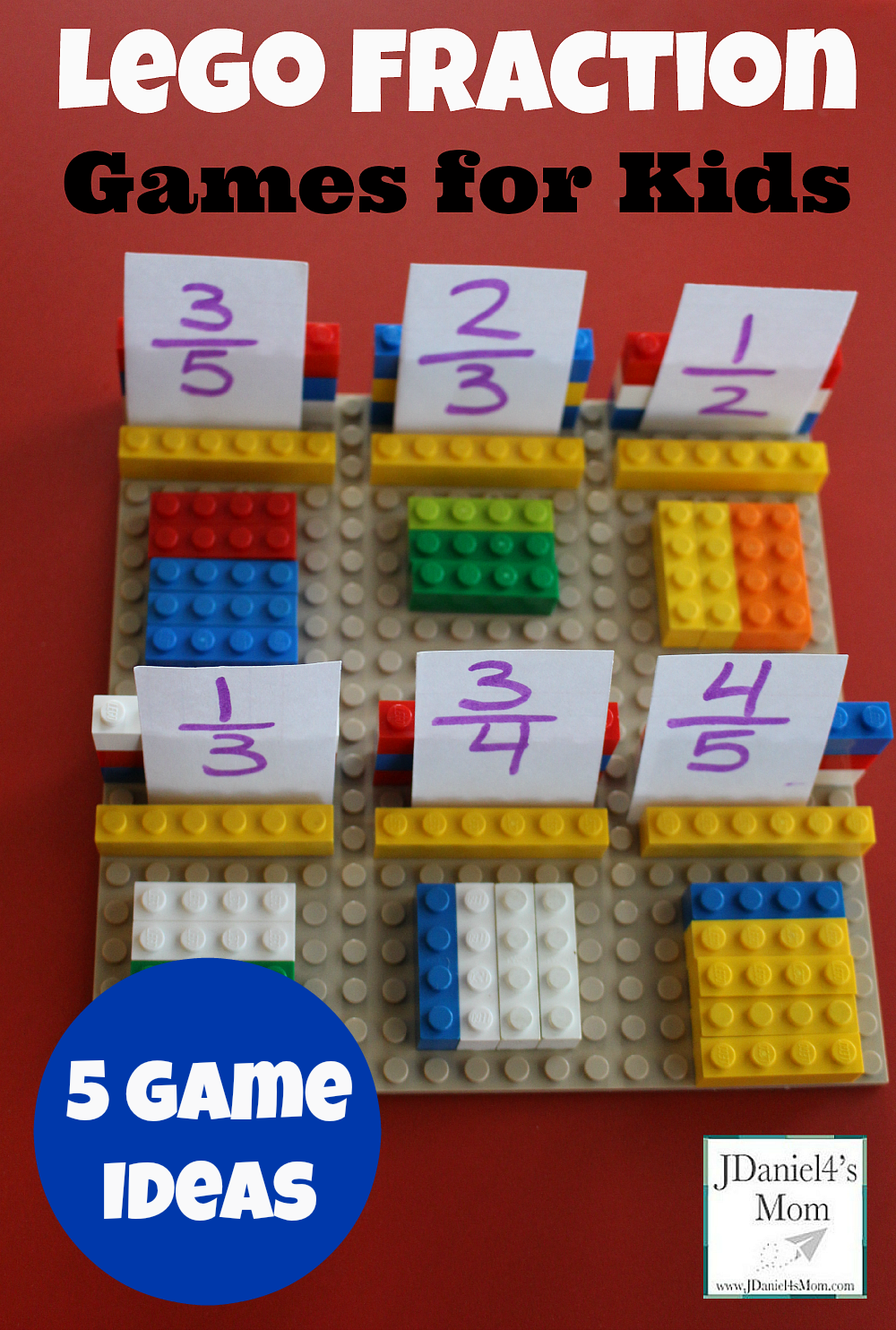 Lego Fraction Games For Kids Learning Activity Five Game