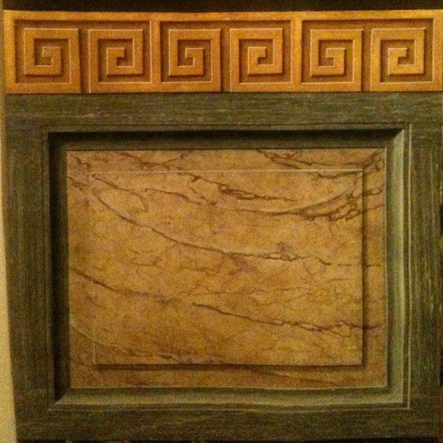 Imitacion de marmol napoleon y turquin con greca griega en for Pintura para marmol