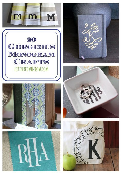 20 Gorgeous Monogram Crafts you can make yourself!