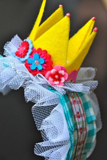 felt crown birthday headband