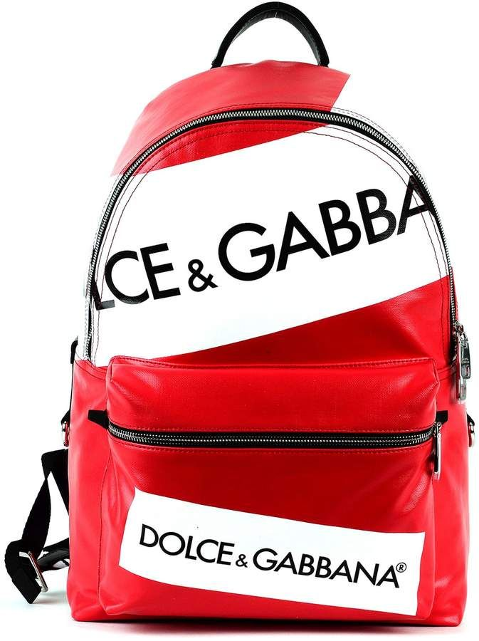 60db69c04c06 Dolce   Gabbana Dolce Gabbana Vulcano Backpack In Resinated Canvas With  Logo Printing