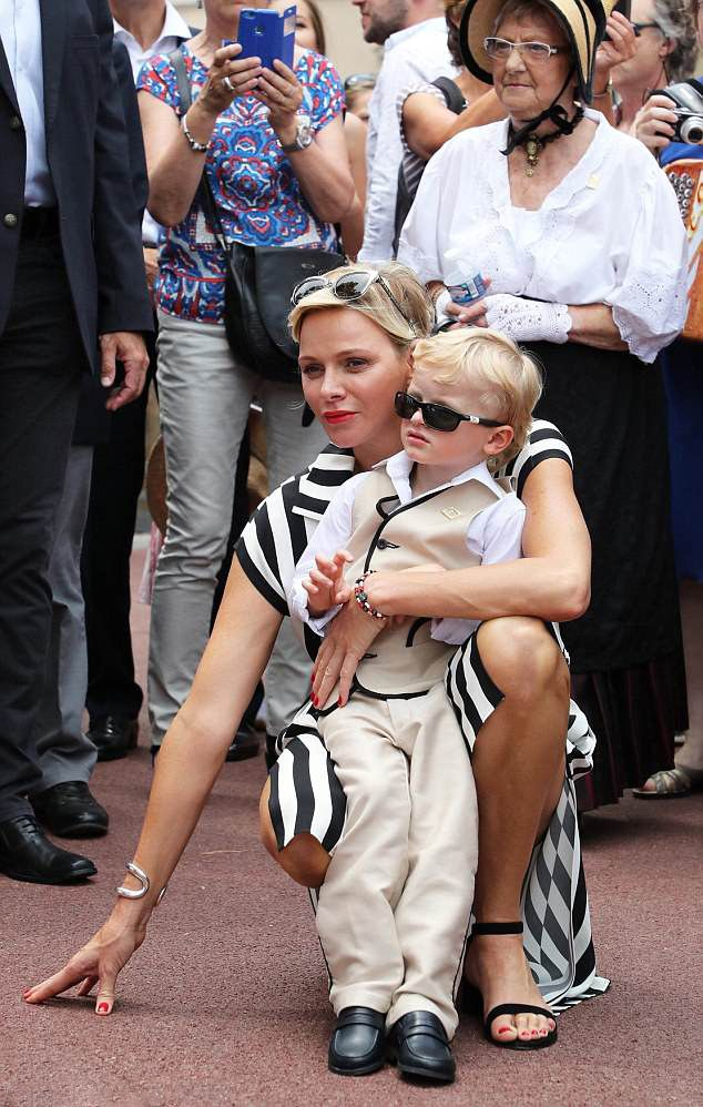 Monaco's Princess Charlene who look stylish in a silk