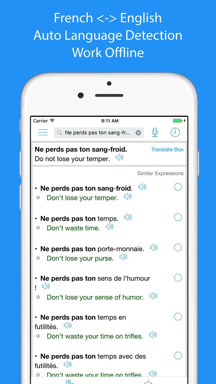French translator offline referenceleappsios offline