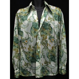 Vintage Tops Blouses Vintage Shirts 70s Polyester Disco Shirts