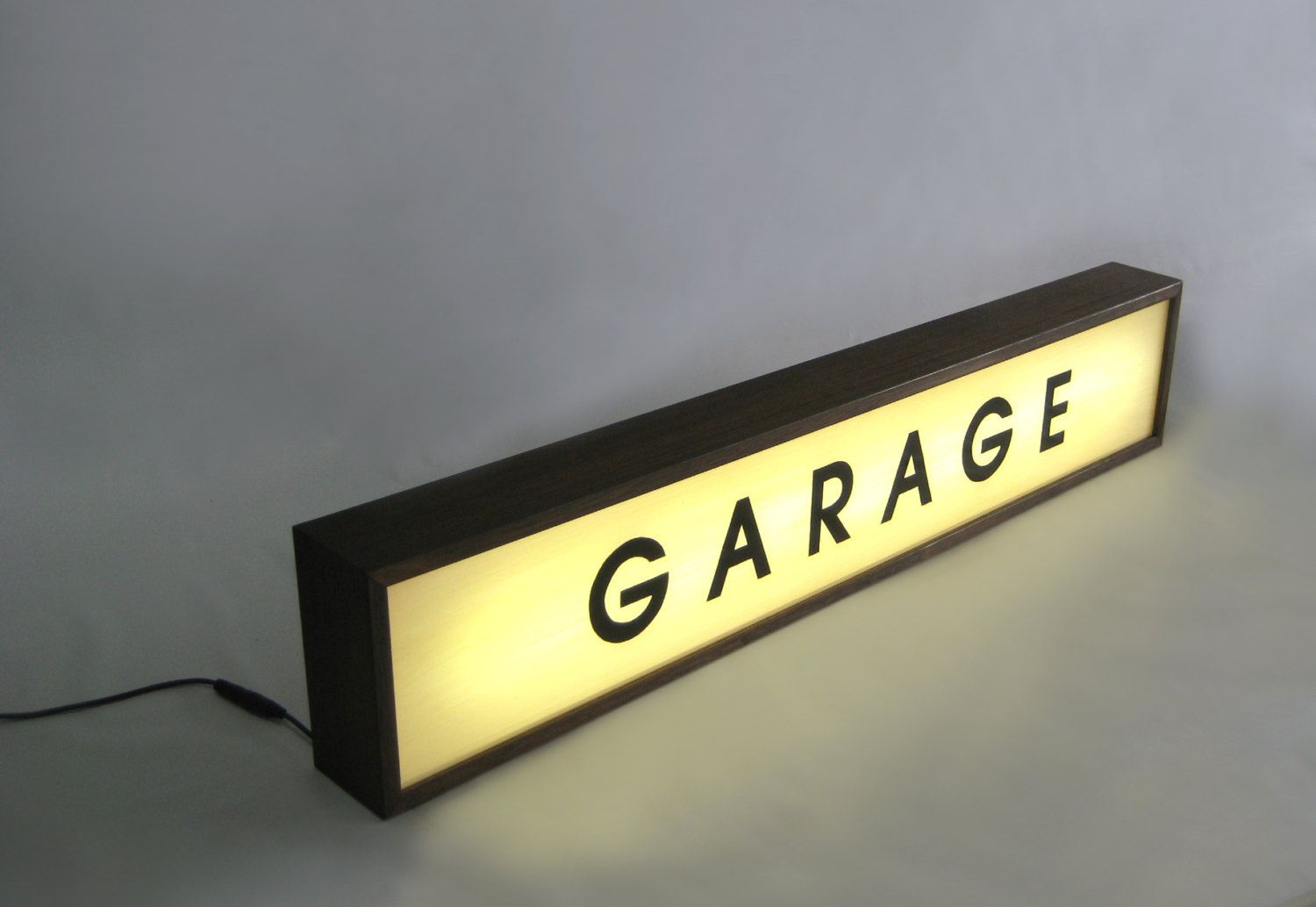 Lighted Garage Sign Handcrafted Wooden Light Box Sign For Man Cave Wall Art Hand Painted Signs 84 X 16 Cm Light Box Sign Wooden Light Light Box