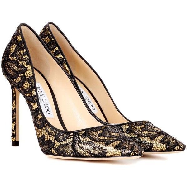 45727bf98744 ... purchase jimmy choo romy 100 lace pumps 490 liked on polyvore featuring  shoes e56fe 71b49 best price jimmy choo abel lace point toe ...