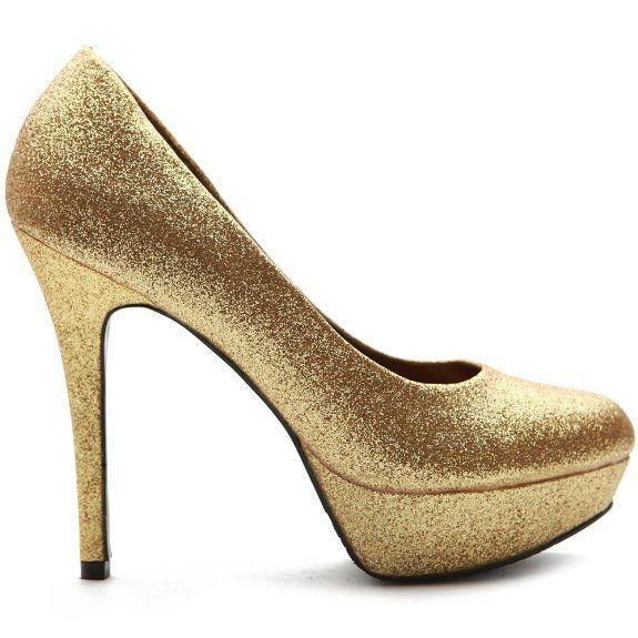 Amazon.com: Ollio Women's Shoe Platform Glitter Stiletto High Heel Multi Colored Pump: Shoes