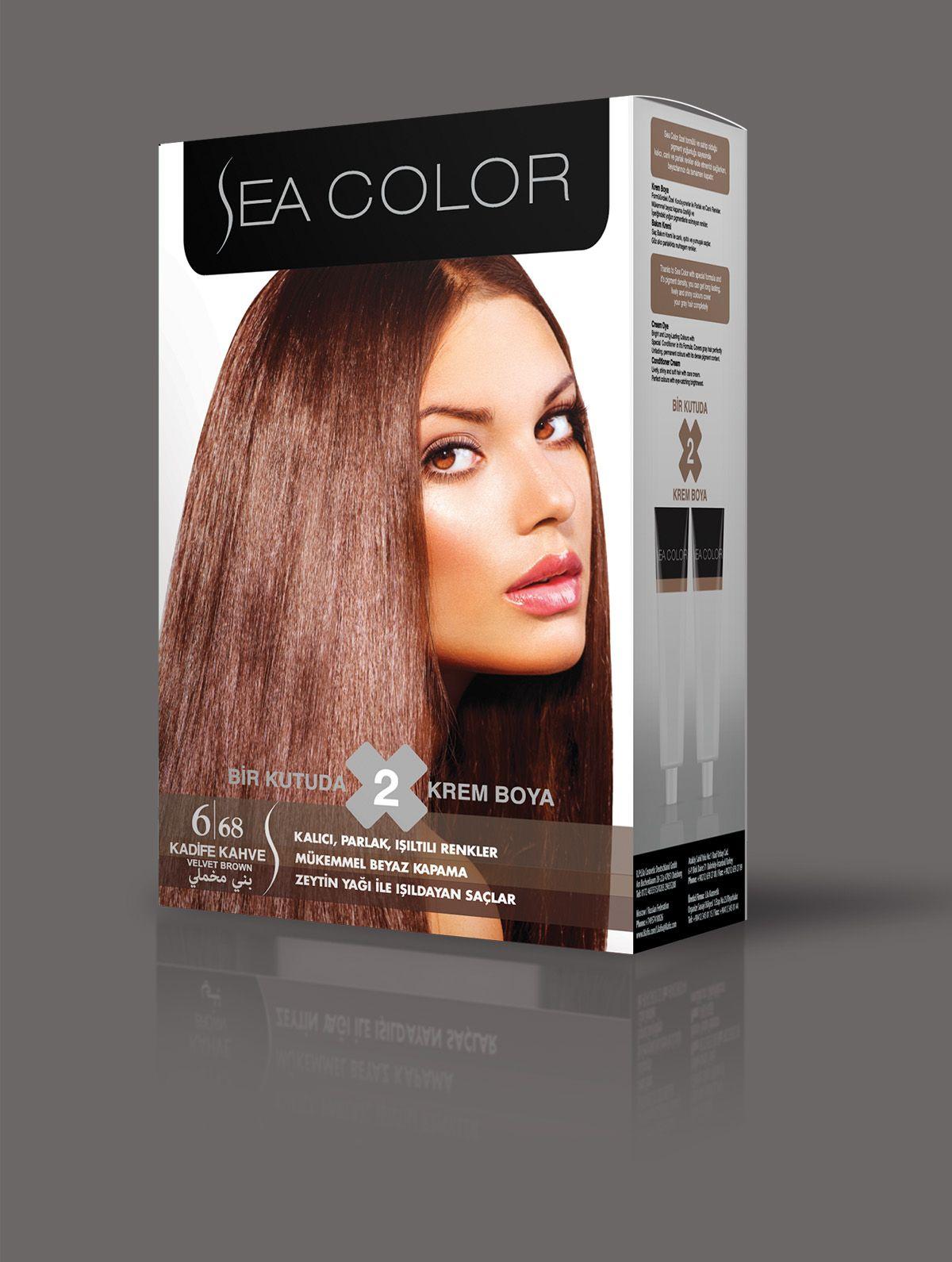 Sea Color Sac Boyasi 6 68 Kadife Kahve Kadife Renkler Sac Boyasi