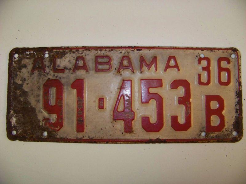 Alabama Car Tags >> 1936 Alabama Car Tag Living Young Wild And Free Alabama Car