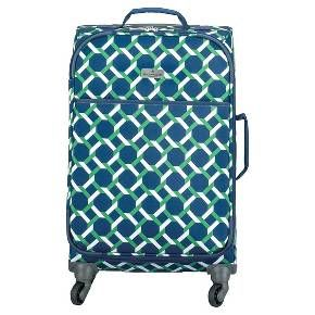 Hy Chic By Jonathan Adler Carry On Luggage Green Navy Lattice Target