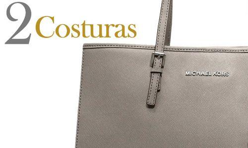 Cómo identificar si una bolsa Michael Kors es original o una imitación en 5  pasos. ((michael kors bag, purse, fake, real, leather, zipper, forro,  lining)) 9b90840a16