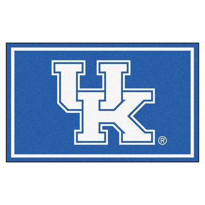 """FANMATS NCAA University of Kentucky Rug Rug Size: 3'10"""" x 6'"""