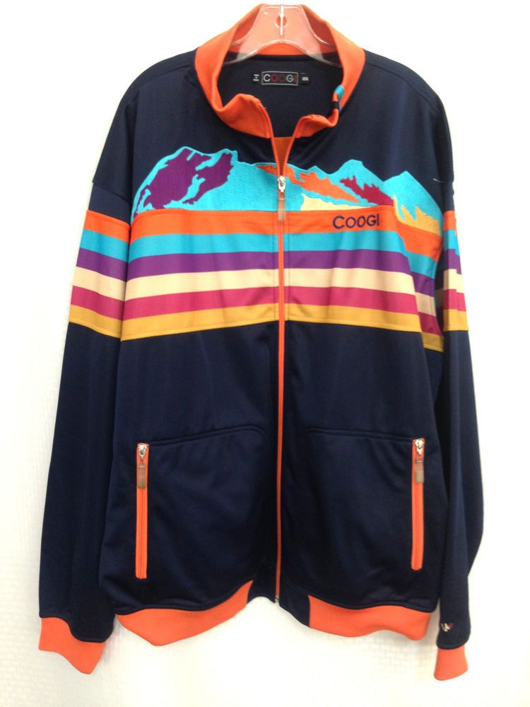 COOGI Jacket Deer Country Track Street Hip Hop Designer Coat Vtg Rare 3XL XXXL #COOGI #BasicJacket