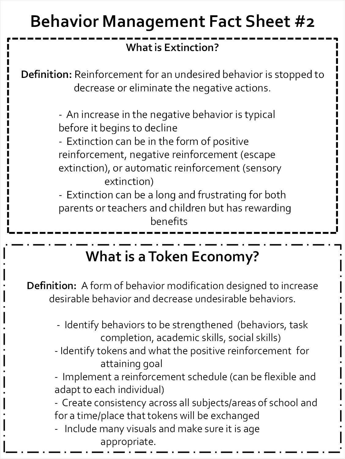 Behavior Management Fact Sheet 2