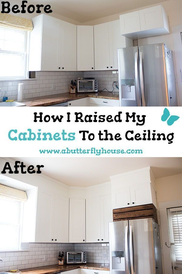 How I Closed the Space Above My Cabinets | Home renovation ...