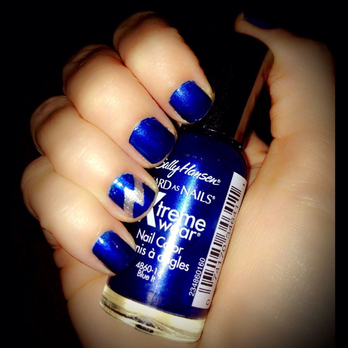 My Tampa Bay Lightning Nails..Not Perfect but I tried⚡ | Nails <3 ...